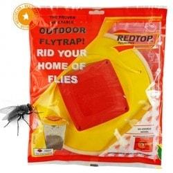 Bardzo skuteczna wabiąca pułapka na muchy + przynęta – REDTOP XXL NAJWIĘKSZA