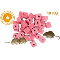 Trutka na myszy i szczury KOSTKA MURIBROM 10 KG
