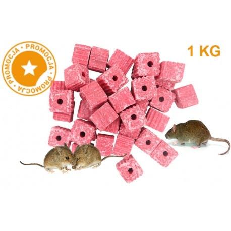 Trutka na myszy i szczury KOSTKA MURIBROM 1 KG