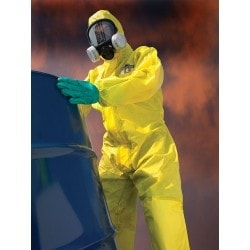 KOMBINEZON OCHRONNY ChemMAX 1 żółty kaptur rozmiar L