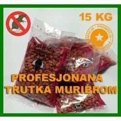 Zatrute ziarno na myszy i szczury MURIBROM 10 KG
